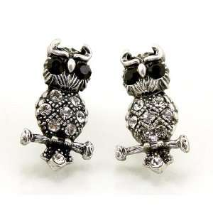 Fashion Jewelry Desinger Inspired Silver Color Owl Earrings