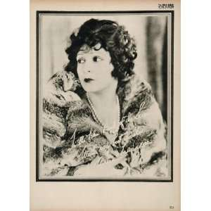 1923 Norma Talmadge Silent Film Actress Biography Print