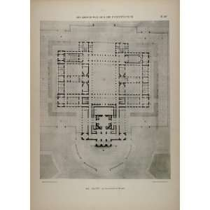 Girault Music Conservatory Floor Plan   Original Print