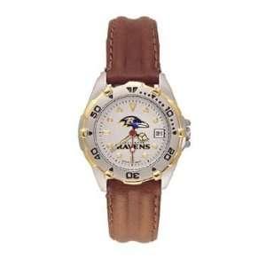 Star Ladies Black Leather Strap Watch