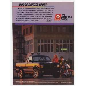 1988 Dodge Dakota Sport Pickup Truck Print Ad (22820