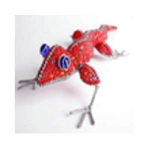 New Green Giraffe Gecko Large Made Of Glass Beads And