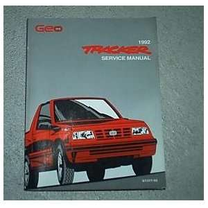 1992 Chevrolet Chevy Geo Tracker Service Manual Oem 92 gm