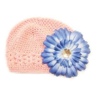 Fits 0   9 Months With a 4 Blue Gerbera Daisy Flower Hair Clip Baby