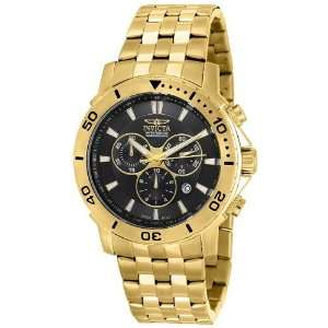 Chronograph 18k Gold Plated Stainless Steel Watch Invicta Watches