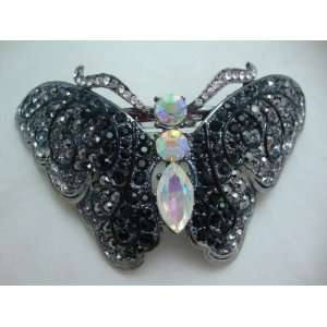 NEW Large Crystal Butterfly Hair Clip, Limited. Beauty