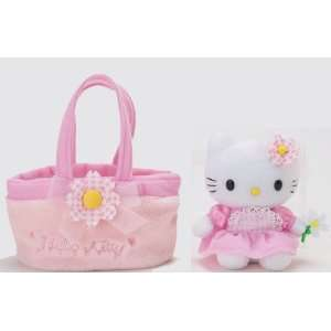 Hello Kitty   Pink Flower Hello Kitty 6 Plush in Bag Toys & Games