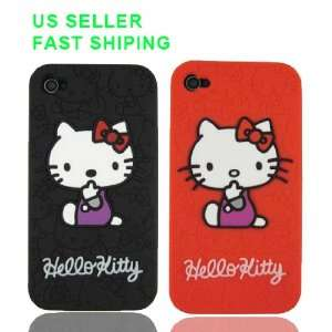 2 Pcs Hello Kitty Embossed Silicone Case Cover for iPhone
