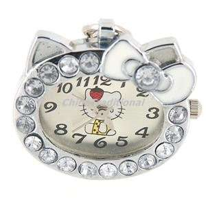 designed Hello Kitty Head Keychain Girls Watch