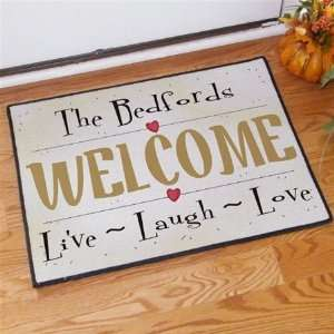 , Laugh, Love Personalized Family Name Doormat Patio, Lawn & Garden