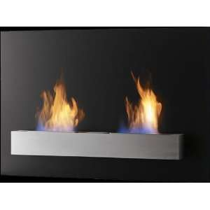 Safretti Riviera DU GL Wall Mount Indoor/Outdoor Bio Fireplace with