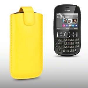 NOKIA ASHA 201 PU LEATHER CASE, BY CELLAPOD CASES YELLOW