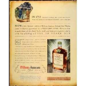 1934 Ad William Jameson Irish Whiskey McKesson Robbins