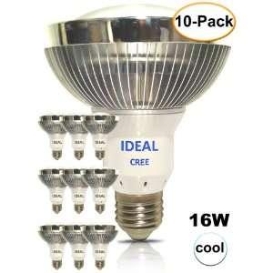 Pack) IDEAL LED (CREE) 16 Watt Cool White 5000K PAR30 Flood Light Bulb