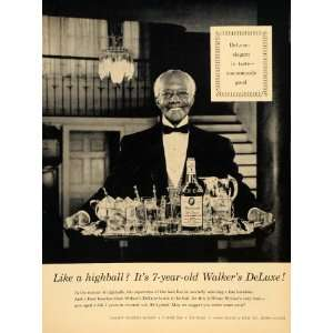 Ad Hiram Walker & Sons Inc Bourbon Whiskey Liquor   Original Print Ad