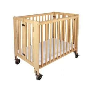 Hideaway Compact Folding Crib w/Mattress Baby