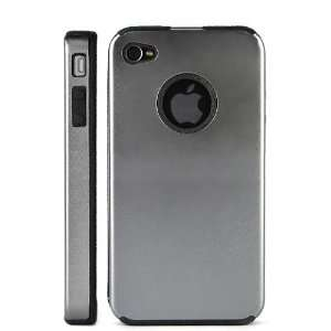 com Aluminium Metal Hard Case Cover With Soft Side Design For iPhone