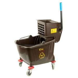 Brown 36 Quart Mop Bucket & Wringer Combo Health