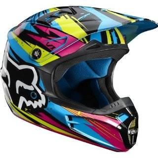 Road/Dirt Bike Motorcycle Helmet   Purple/Yellow / Small Automotive