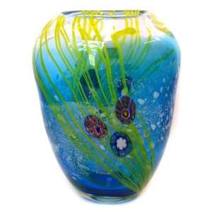 Hand Blown Murano Art Glass Vase with Certificate A53