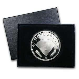 oz Baseball Silver Round (w/Gift Box & Capsule)