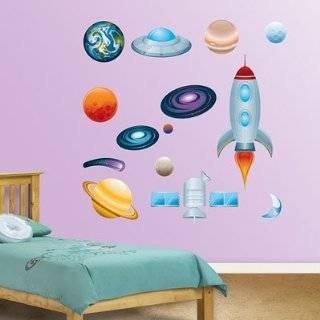 Rocket Space Big Vinyl Mural Wall Stickers Baby