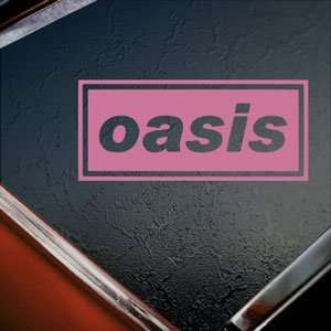 Oasis Pink Decal English Rock Band Truck Window Pink