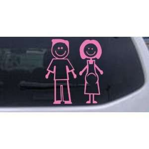 Pink 22in X 20.7in    Expecting Family Stick Family Stick Family