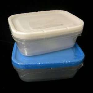New   2Pk Plastic Storage Container Case Pack 48 by DDI