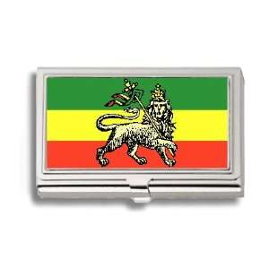 Jah Rastafari Flag Business Card Holder Metal Case