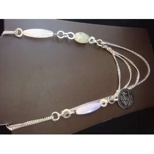 Power of Beauty Silver Multi Colored Stones Elegant Necklace