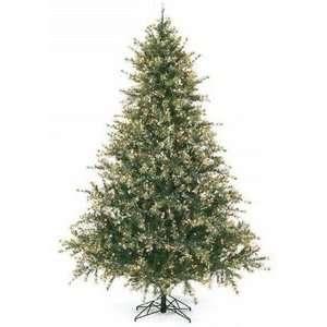 9 Pre lit Christmas Tree Mixed Pine Flocked Snow Tip