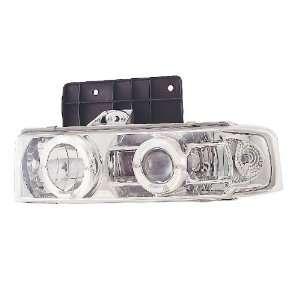 95 04 Chevy Astro Dual Halo Chrome Projector Headlights