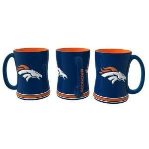 Broncos 15 Ounce Sculpted Logo Relief Coffee Mug Sports & Outdoors