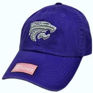Purple Gray Silver Rhinestones Womens Ladies Cap Hat Sports