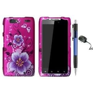 Purple Flower On Pink Premium Design Protector Hard Cover