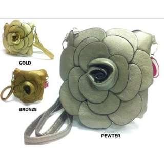 PICK A COLOR Designer Rare Handmade Raised Flower Purse