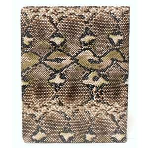 Brown Snake Skin with Kickstand Function Case for Apple