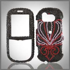 Black Cristalina crystal bling case cover for Samsung u450 Intensity
