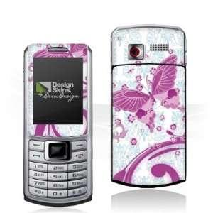 Design Skins for Samsung S3310   Pink Butterfly Design