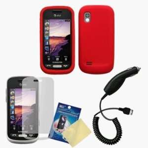 Red Silicone Case / Skin / Cover, LCD Screen Guard