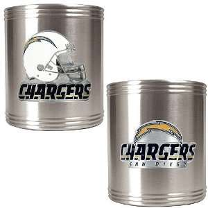 BSS   San Diego Chargers NFL 2pc Stainless Steel Can Holder Set