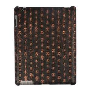 Skull Pattern Soft Synthetic Leather Case Light Bronze for