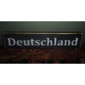 DEUTSCHLAND GERMAN Germany Shabby Country Chic Wood Sign