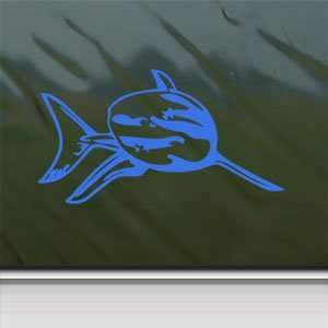 Great White Shark Blue Decal Car Truck Window Blue Sticker