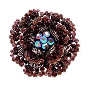 com Acosta Jewellery   Large Amethyst Purple Crystal   Antique Silver