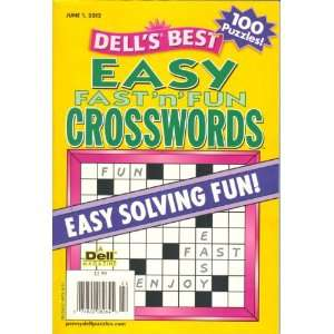 Dell`s Best Easy Fast N Fun Crosswords (June 1st,2012