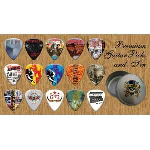 Guns N Roses Premium Guitar Picks X 15 In Tin (G) Musical Instruments