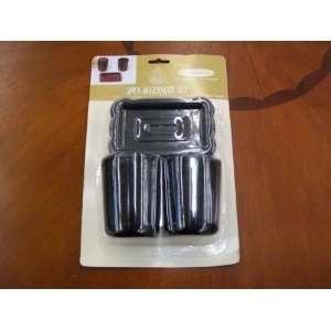 Black 3 Piece Plastic Bathroom Accessory Set (soap dish, toothbrush