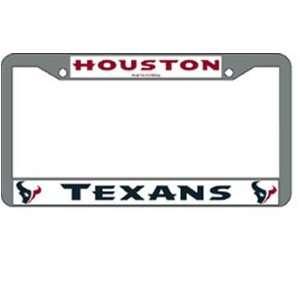 Houston Texans NFL Chrome License Plate Frame